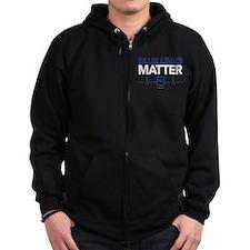 Blue Lives Matter Zip Hoody