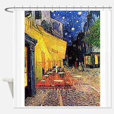 Van Gogh, Cafe Terrace at Night Shower Curtain