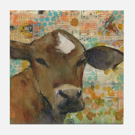 Baleful Eyes Animal Art Tile Coaster