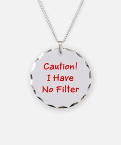 Caution! I Have No Filter R Necklace