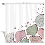 Pink Seashells Shower Curtain