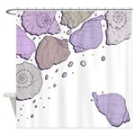 Violet Seashells Shower Curtain
