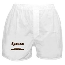 Texas Community Development Worker Boxer Shorts