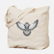 Beadwork Snowy Owl Tote Bag