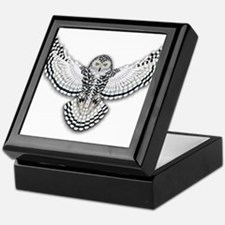 Beadwork Snowy Owl Keepsake Box