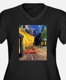 Cafe Terrace at Night by Vincent Plus Size T-Shirt