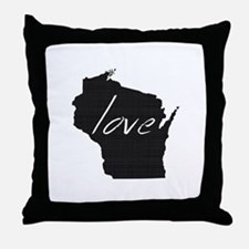 Love Wisconsin Throw Pillow