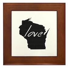 Love Wisconsin Framed Tile