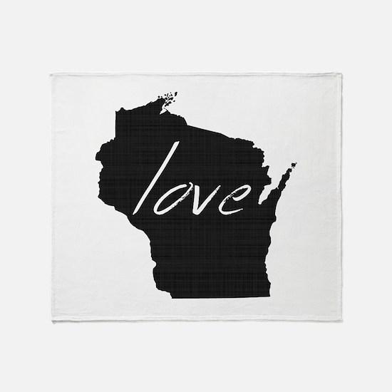 Love Wisconsin Throw Blanket