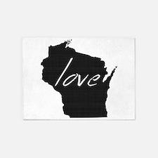 Love Wisconsin 5'x7'Area Rug