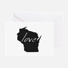 Love Wisconsin Greeting Cards (Pk of 10)