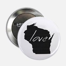 "Love Wisconsin 2.25"" Button (10 pack)"