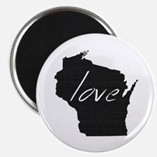 """Love Wisconsin 2.25"""" Magnet (10 pack)"""