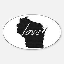 Love Wisconsin Sticker (Oval)