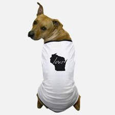 Love Wisconsin Dog T-Shirt