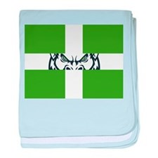 Green GFC Flag baby blanket