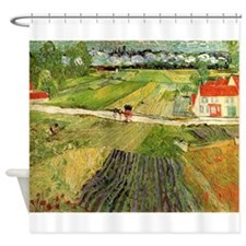 Funny Oil painting Shower Curtain
