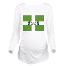 Green GFC Flag Long Sleeve Maternity T-Shirt