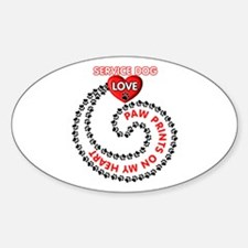 SERVICE DOG LOVE Decal