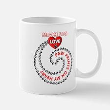 SERVICE DOG LOVE Mugs