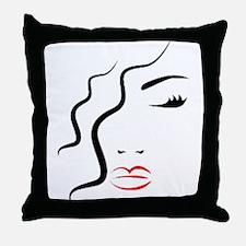 Woman Art Throw Pillow