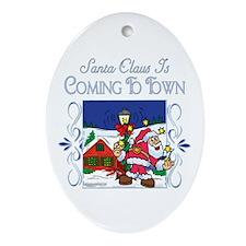 Christmas Carol Series Oval Ornament