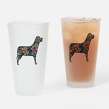 dog flower Drinking Glass