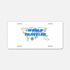 World Traveler Aluminum License Plate
