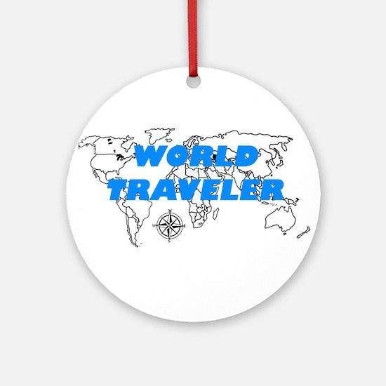 World Traveler Ornament (Round)