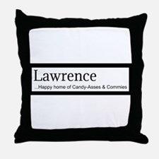 Lawrence Candy Asses & Commies Throw Pillow