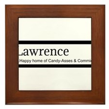Lawrence Candy Asses & Commies Framed Tile