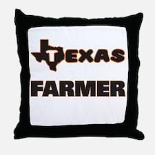 Texas Farmer Throw Pillow