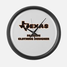 Texas Fashion Clothing Designer Large Wall Clock