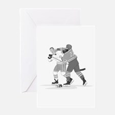 Unique Hockey Greeting Card