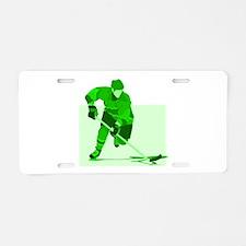 hockey Aluminum License Plate