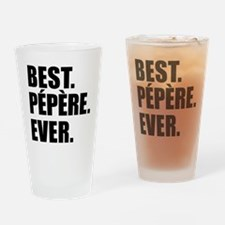 Best Pepere Ever Drinkware Drinking Glass