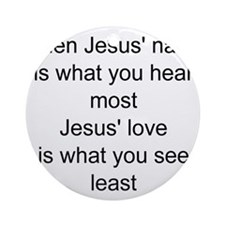 Jesus name Ornament (Round)