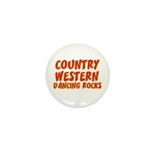 Country Western Dancing Rocks Mini Button (10 pack