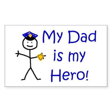 Police Kid Hero Rectangle Sticker