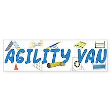 Agility Van Bumper Bumper Bumper Sticker