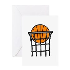 Orange Green Baseball Greeting Card