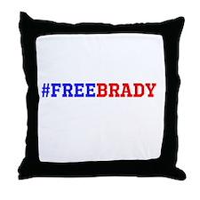 #FREEBRADY Throw Pillow