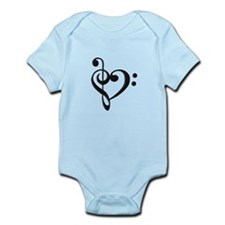 Music Clef Heart Body Suit