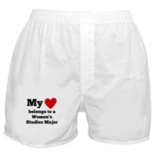 My Heart Belongs To A Womens Studies Major Boxer S