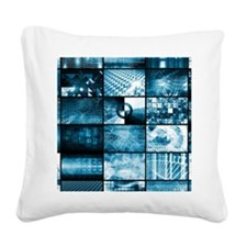 Technology Network Square Canvas Pillow