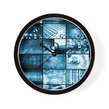 Technology Network Wall Clock