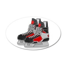 Ice Skates 20x12 Oval Wall Decal