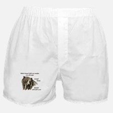 Funny Motivational Be Strong Bear art Boxer Shorts