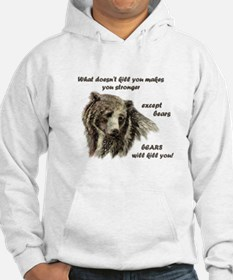 Funny Motivational Be Strong Bear art Hoodie Sweat