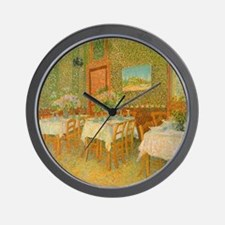 Van Gogh Interior of a Restaurant Wall Clock